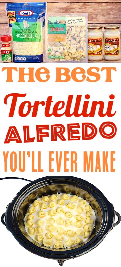 Crockpot Alfredo Tortellini Slow Cooker Pasta