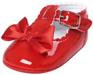 Free Baby Girl Buckle Shoes with Bows