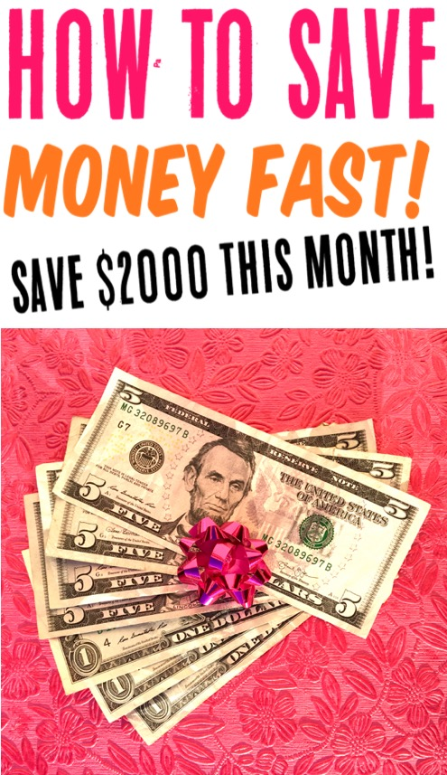 Save Money Fast Ideas and Tips - Challenge your budget and you won't believe how much you can save this month with these easy tricks