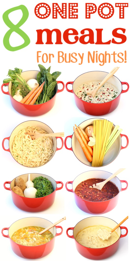 One Pot Meals Easy Quick Dinners for Busy Nights