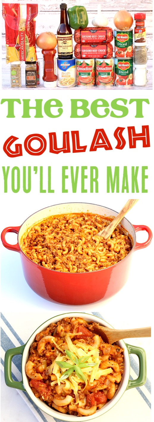 Goulash Recipes Easy Ground Beef Pasta Dinner using just One Pot