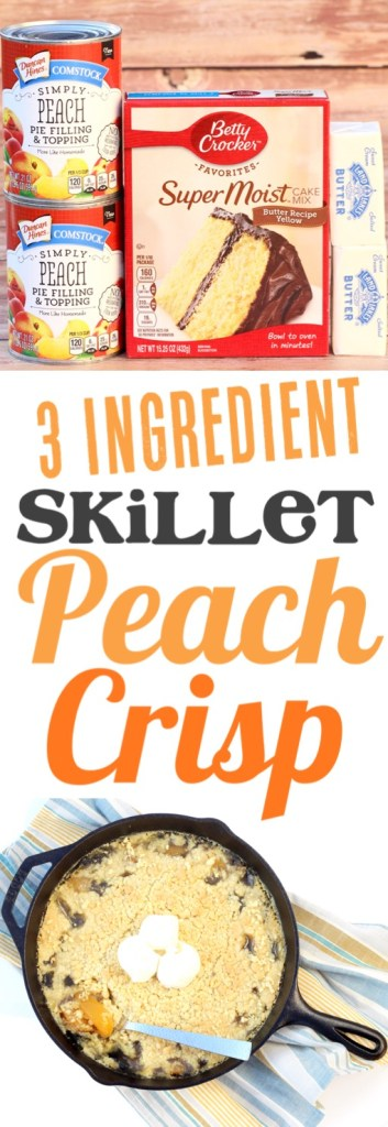 Peach Cobbler Easy Skillet Dump Cake Recipe
