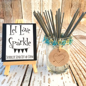 Wedding Reception Sparkler Sendoff Let Love Sparkle