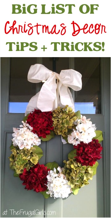 Christmas Decorating Ideas from TheFrugalGirls.com