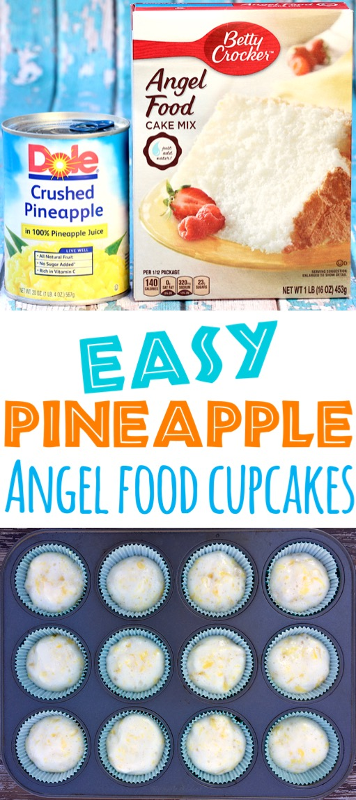 Pineapple Cupcakes Recipes Easy for Kids 2 Ingredient Pineapple Cupcake Recipe