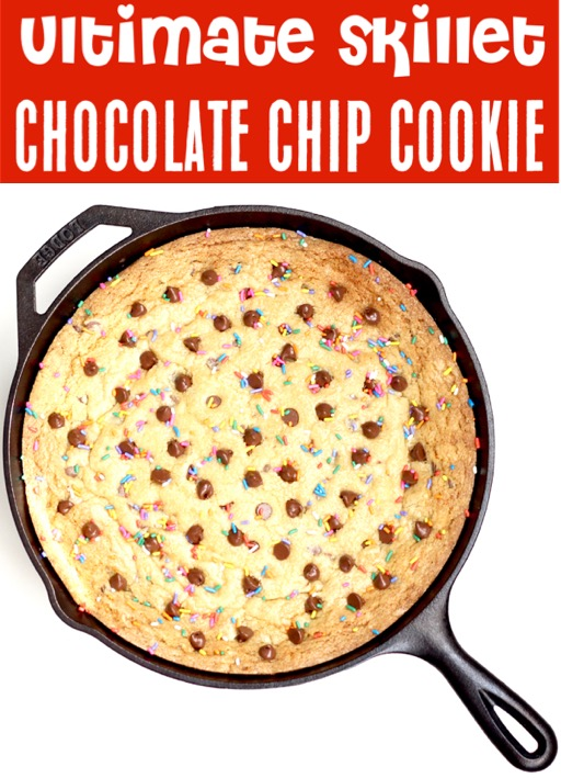 Skillet Cookie Cast Iron Easy Chocolate Chip Cookie Recipes