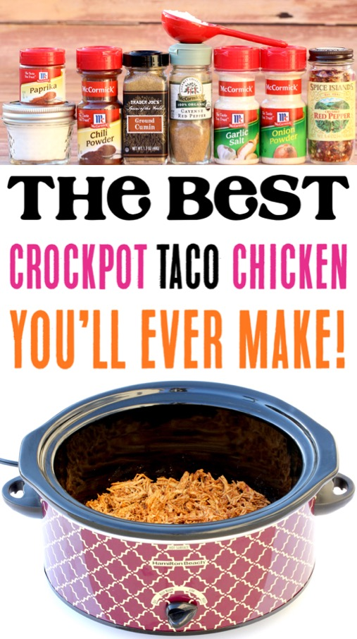 Crockpot Taco Meat Recipes Easy Slow Cooker Chicken Tacos Recipe