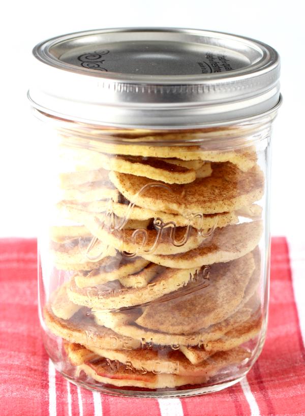 Cinnamon Apple Chips in Dehydrator