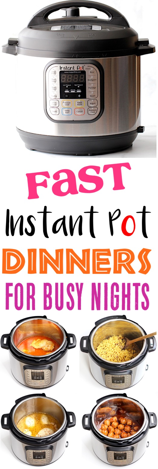 Instant Pot Recipes Easy Family Dinners for Busy Nights