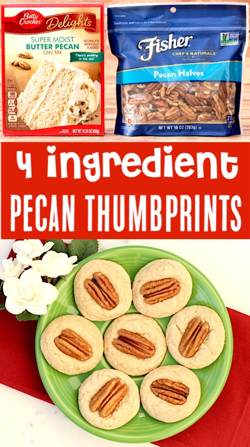 Cake Mix Cookies Recipes Easy Pecan Thumbprint Cookie Recipe for the Holidays