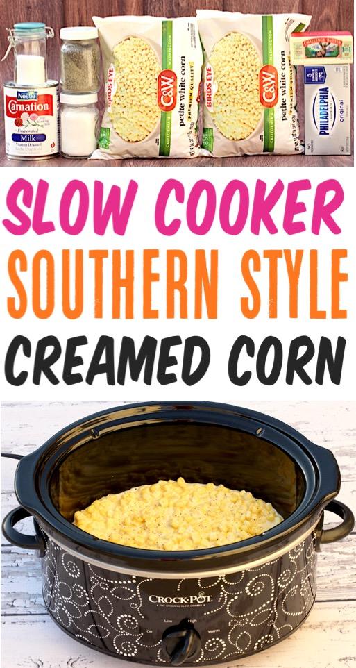 Crockpot Cream Corn Recipe Easy Slow Cooker Creamed Corn