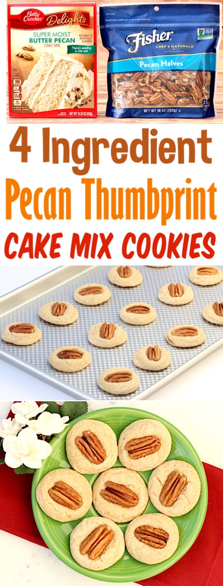 Pecan Cookies Recipes Easy Simple Chewy Cake Mix Cookie