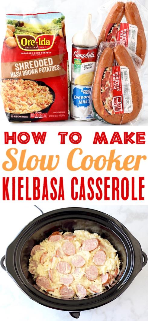 Kielbasa Recipes - Easy Crockpot Kielbasa and Potatoes Casserole