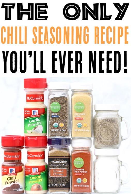 Chili Seasoning Mix Recipe Homemade DIY