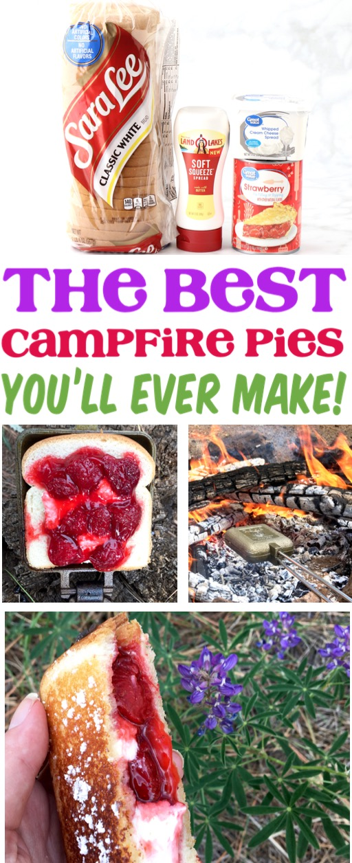 Camping Food Hacks and Ideas | Strawberry Cheesecake Campfire Pudgy Pies