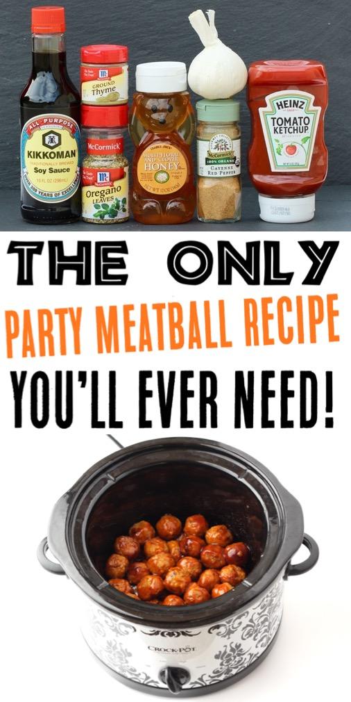 Crock Pot Meatballs Easy Appetizers Recipes