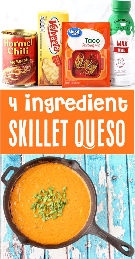 Easy Appetizers for a Party - Skillet Queso Dip Recipe