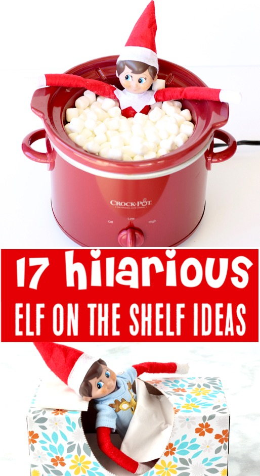 Elf on the Shelf Ideas Funny Hilarious Easy Ideas for Kids