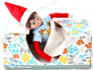 Elf on the Shelf Tissue Box Bed