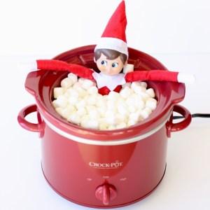 Elf on the Shelf in the Hot Tub