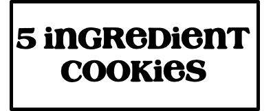 5 Ingredient Cookies