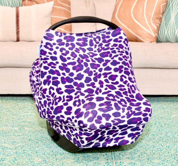 Baby Carseat Cover Canopy Purple