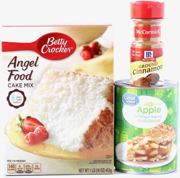Cinnamon Apple Angel Food Dump Cake Recipe