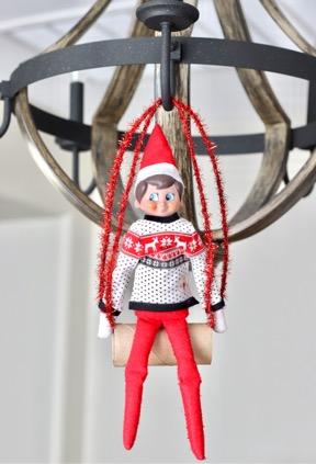 Elf on the Shelf Chandelier
