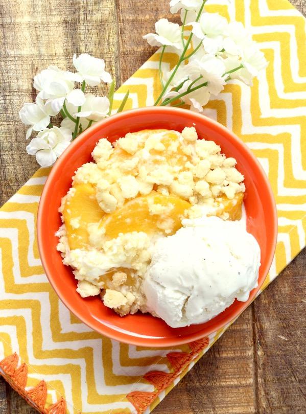 Peaches and Cream Cobbler Recipe Easy