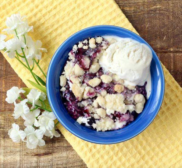 Blueberry Cheesecake Dump Cake Recipe Easy