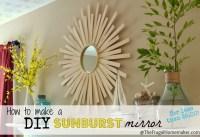 DIY Sunburst Mirror {$4 wall art}