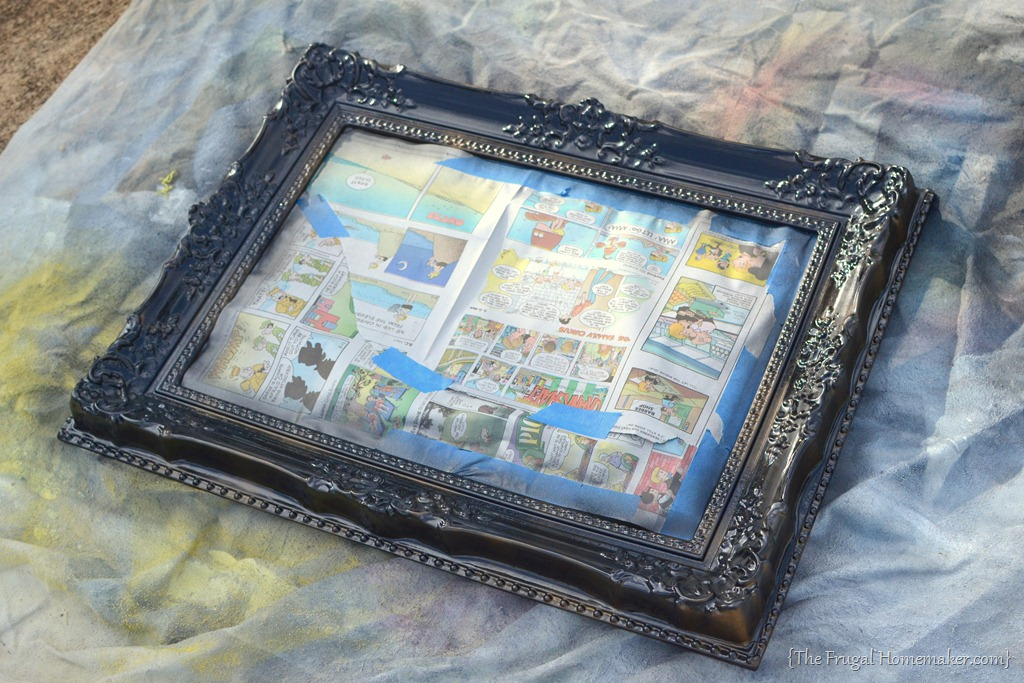 Spray Painted Gold Yard Sale Mirror {How To Spray Paint A ...
