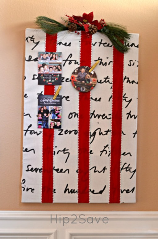 Creative Christmas Card Displayturn Clutter Into