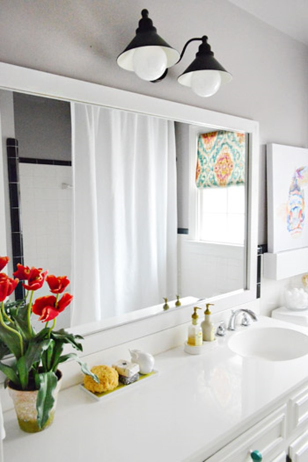 10+ DIY ideas for how to frame that basic bathroom mirror