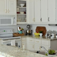 Inexpensive Kitchen Countertops Options Small Kitchens Ideas How To Install A Diy Beadboard Backsplash (kitchen Makeover)