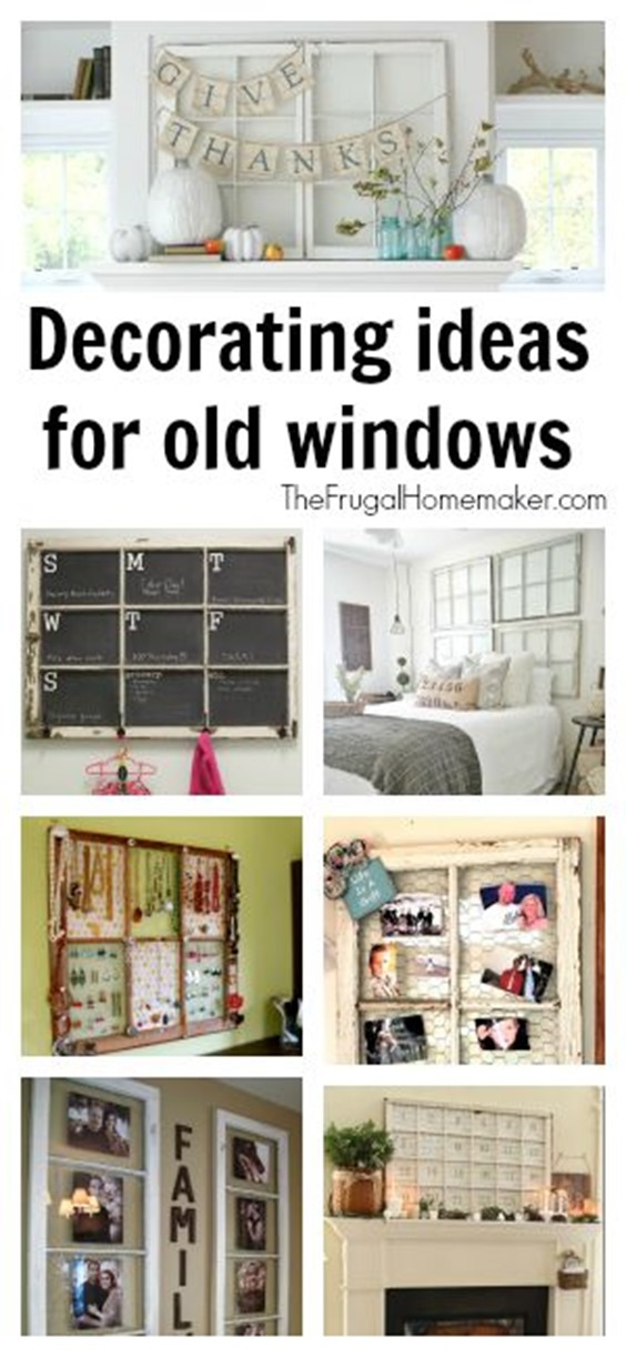 Decorating ideas for old windows