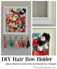 DIY Hair Bow Holder (plus where to find cute hairbands for ...