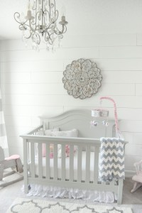 Gray and white girls nursery reveal!