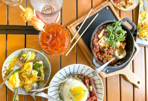 Hawker's Asian Street Food Bloody Mary and Sichuan Shakshuka