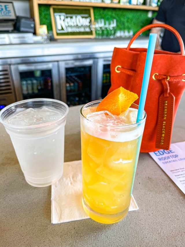 a picture of EDGE Rooftop Lounge cocktails