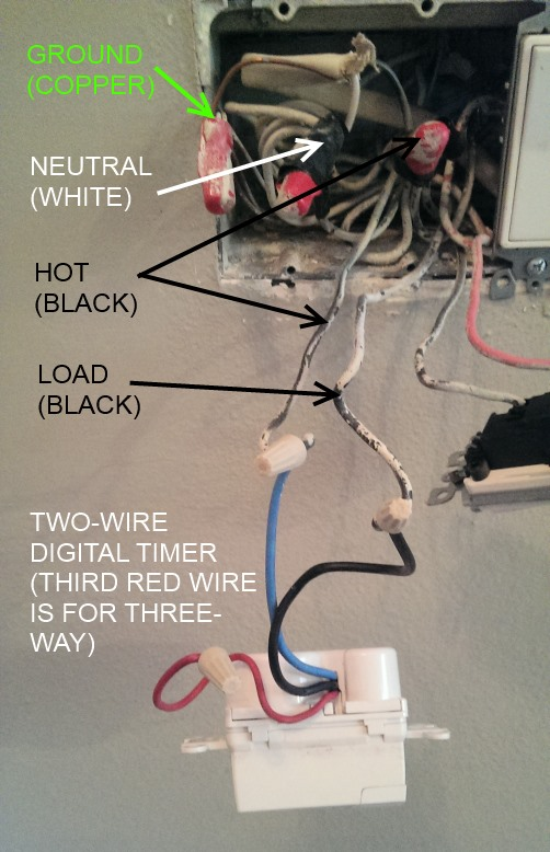 wiring timer switch for outside lights