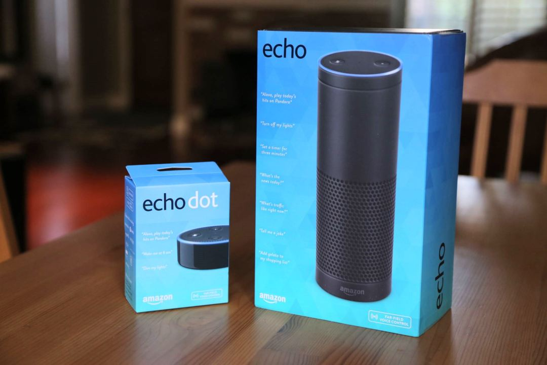 Amazon Echo Dot and Echo