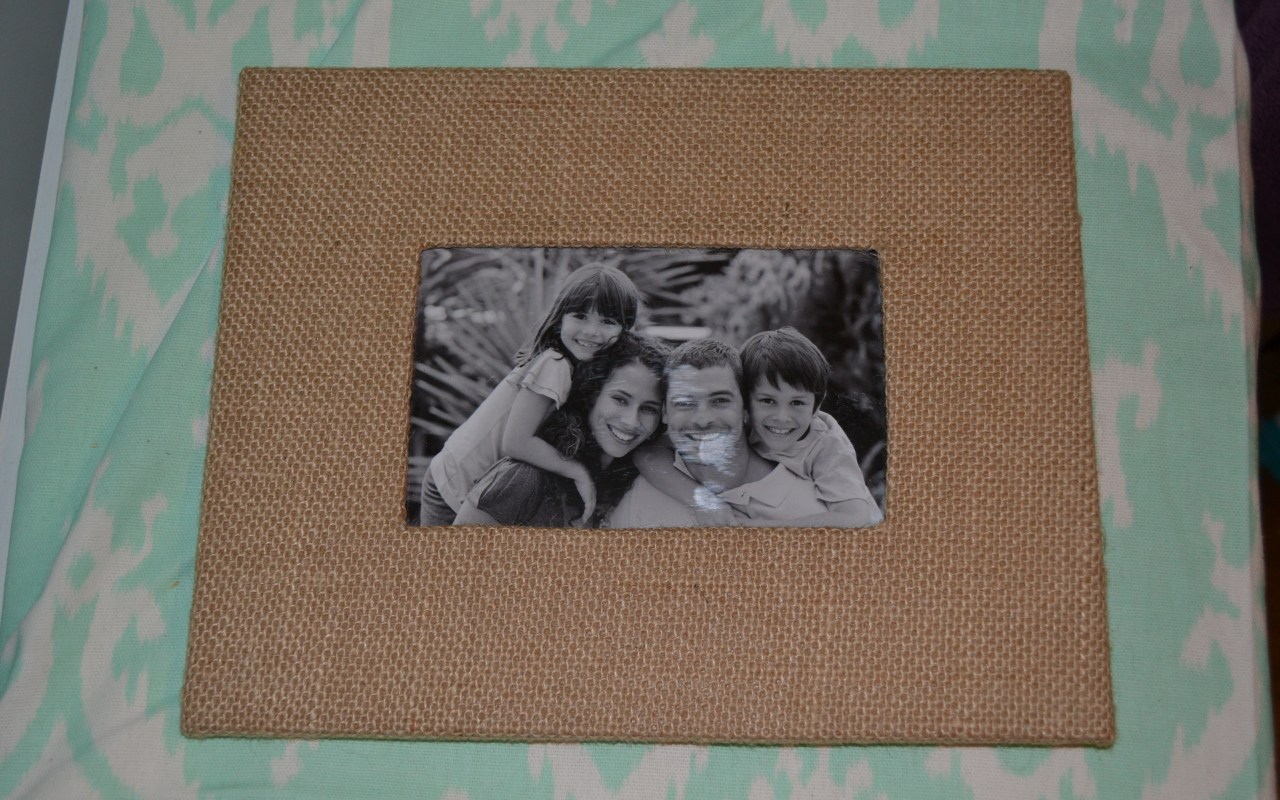 Burlap Picture Frame Makeover