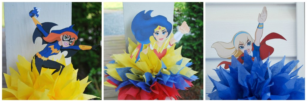 dc girls tissue flowers
