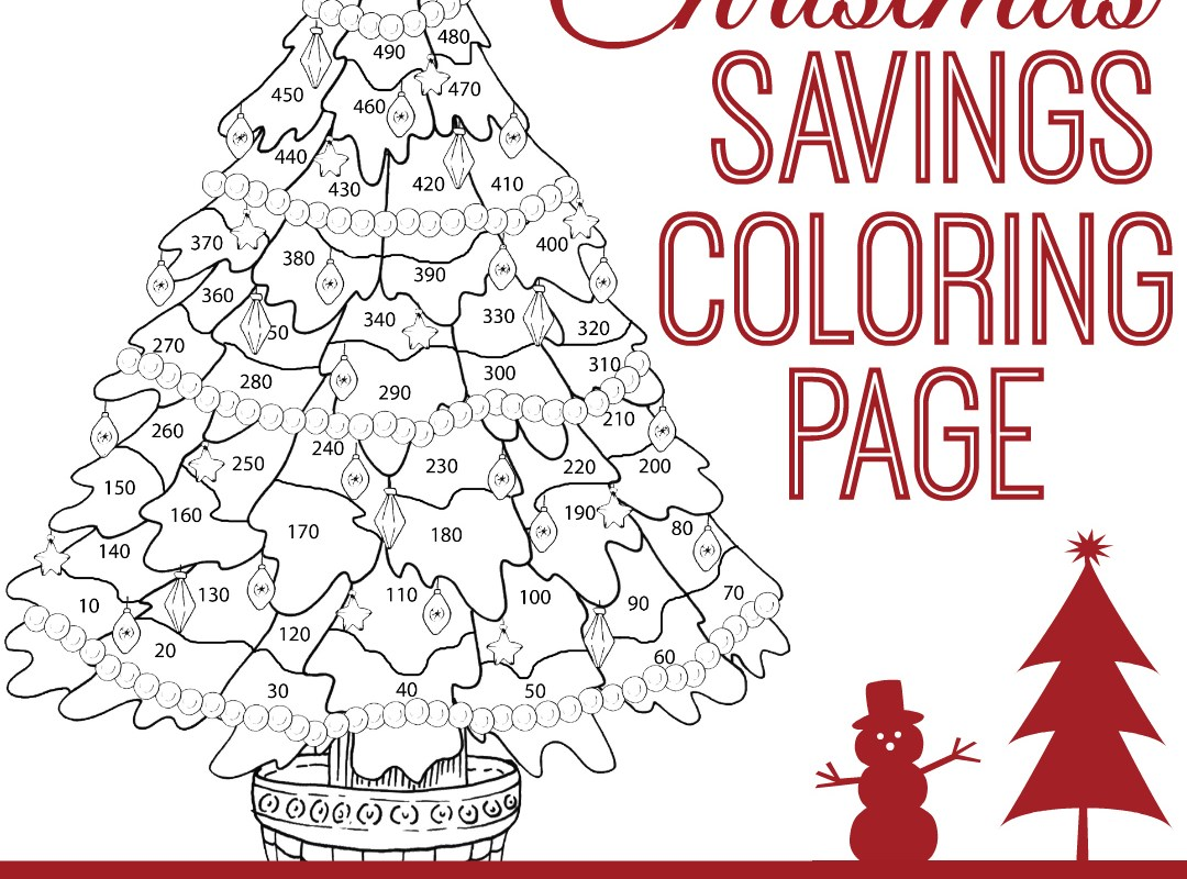 christmas savings coloring page