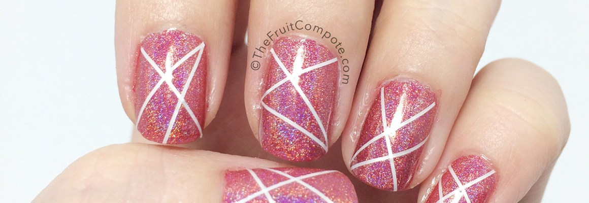 Crisscross Holo Nails