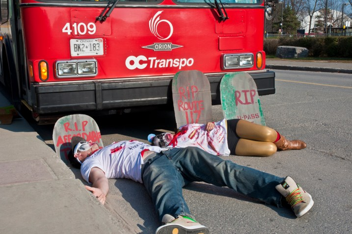 Students bring awareness to the loss of major bus routes