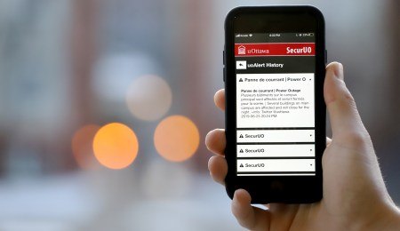 UOAlert is an app students can download to alert them of news on campus including attacks. Photo: Rame Abdulkader/Fulcrum