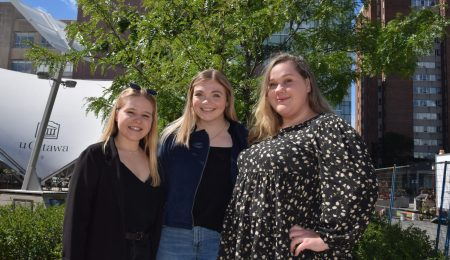 From left to right, Kora Uveitis, Alexis Snell and Coreena Ethridge