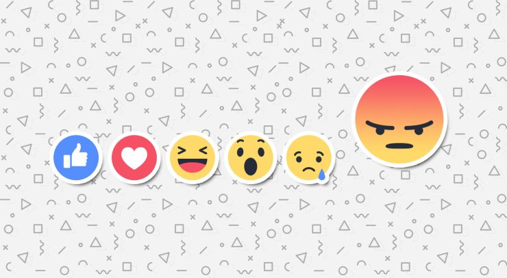 Angry facebook reaction emoji